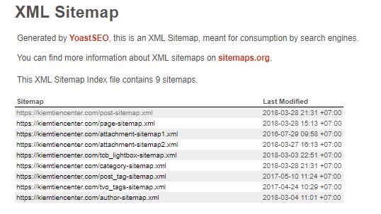xml sitemap là gì làm sao để tạo sitemap trên wordpress khai báo