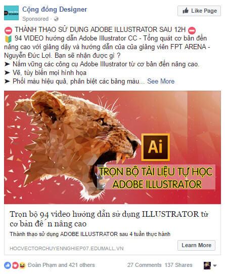 noi dung ads - 5 kiến thức cần nắm vững trước khi tạo chiến dịch Facebook Ads đầu tiên