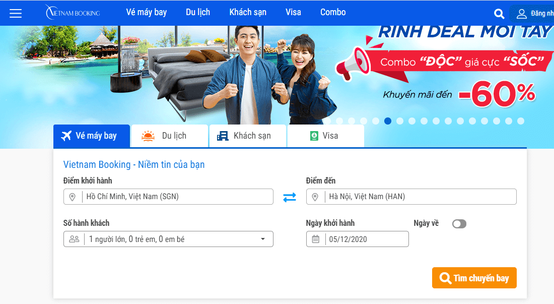 chiến dịch việt nam booking cpa network