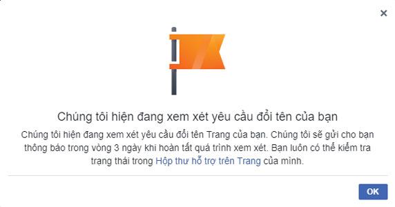 hướng dẫn đổi tên fanpage facebook bước 4