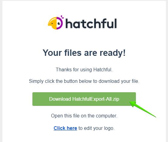check mail và tải logo