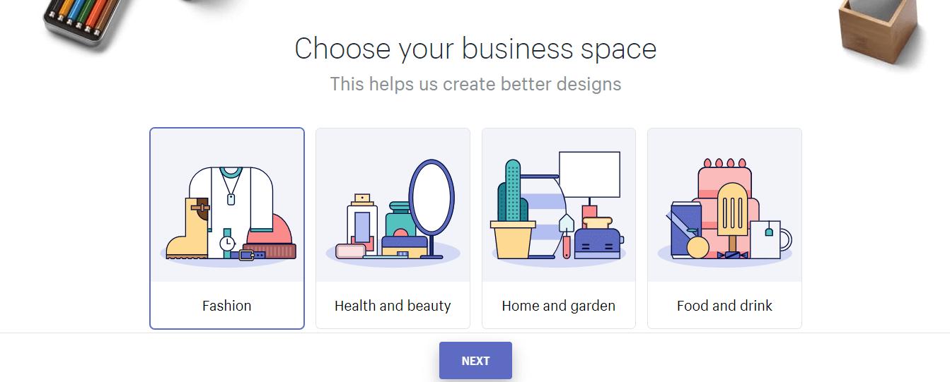 chọn chủ đề thiết kế logo