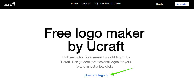 thiết kế logo với ucraft