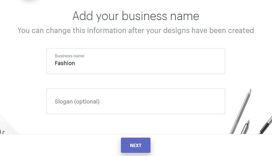 điền thông tin thiết kế logo