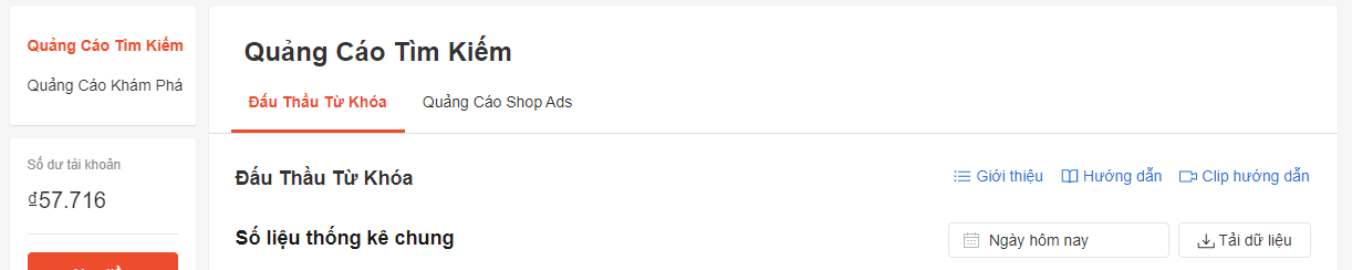 chạy quảng cáo trên kênh người bán shopee