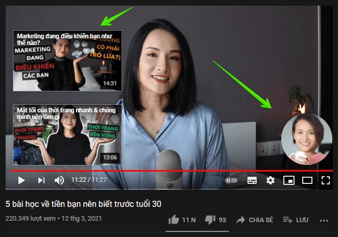 màn hình kết thúc giúp tăng subscribe youtube