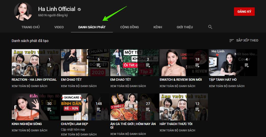tạo playlist giúp tăng subscribe youtube